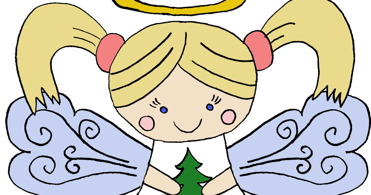 eri doodle designs and creations: Little Christmas Angel.