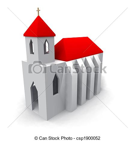 Clip Art of church.
