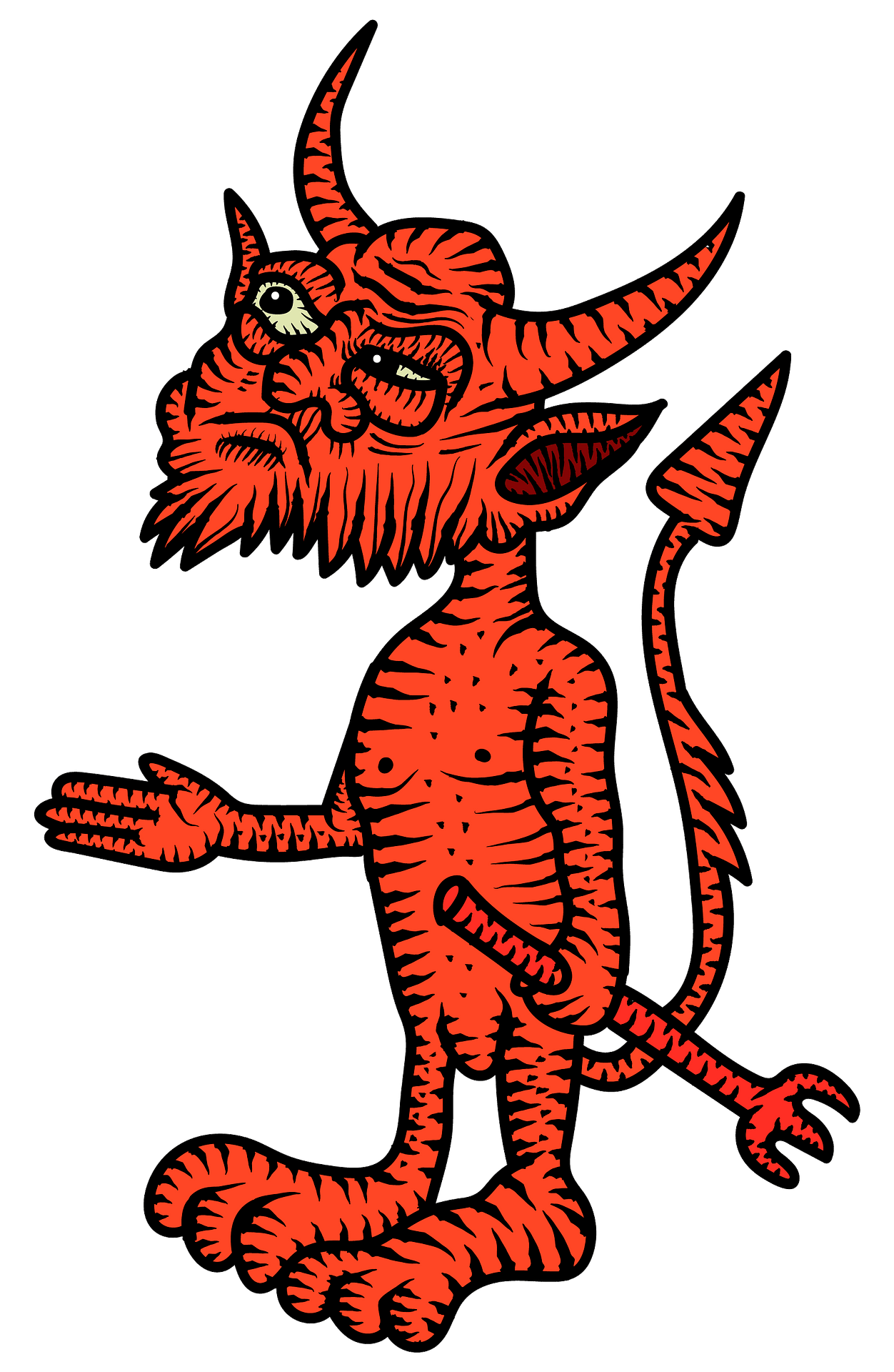 Little devil clipart. Free download..