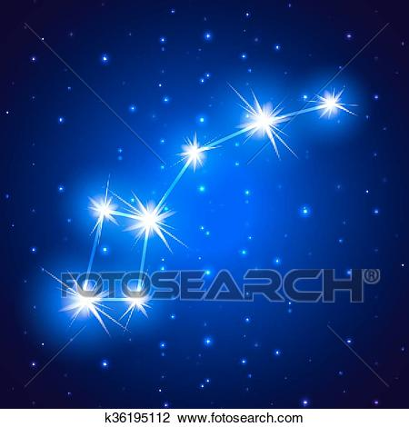 Little Dipper constellation Clipart.