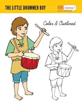 The Little Drummer Boy Clip Art (Hand Drawn).