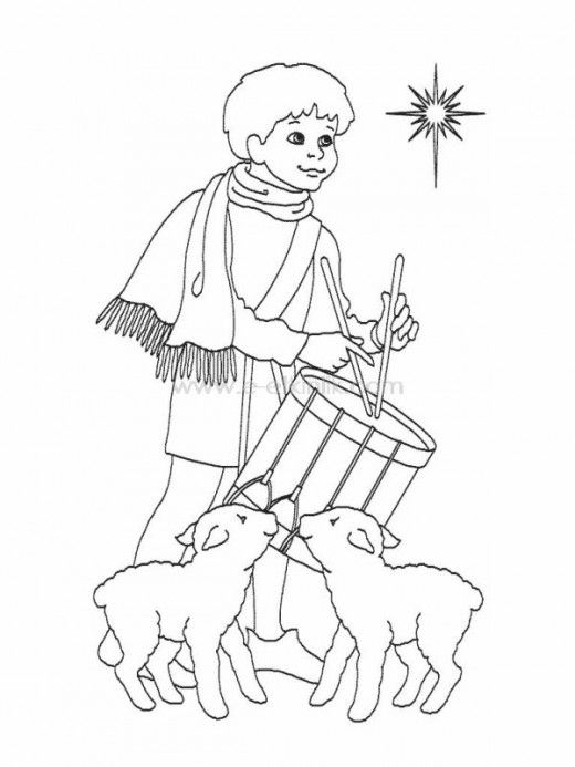 Religious Christmas Little Drummer Boy Clipart.