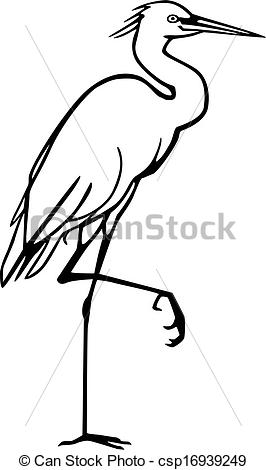 EPS Vector of Snowy Egret.