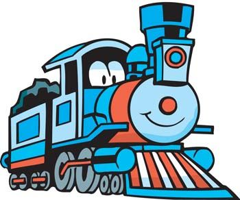 Cartoon Train Conductor.