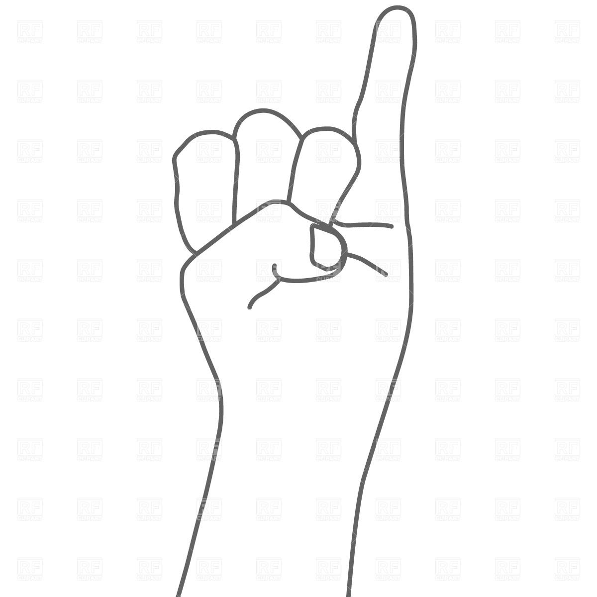Little Finger Clipart.