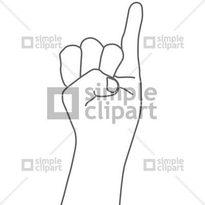 The little finger sign Vector Image #738.