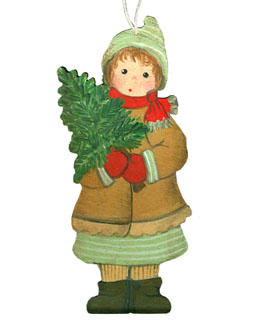 Wintergirl with Little Fir Tree.
