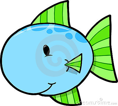 Cute little fish clipart.