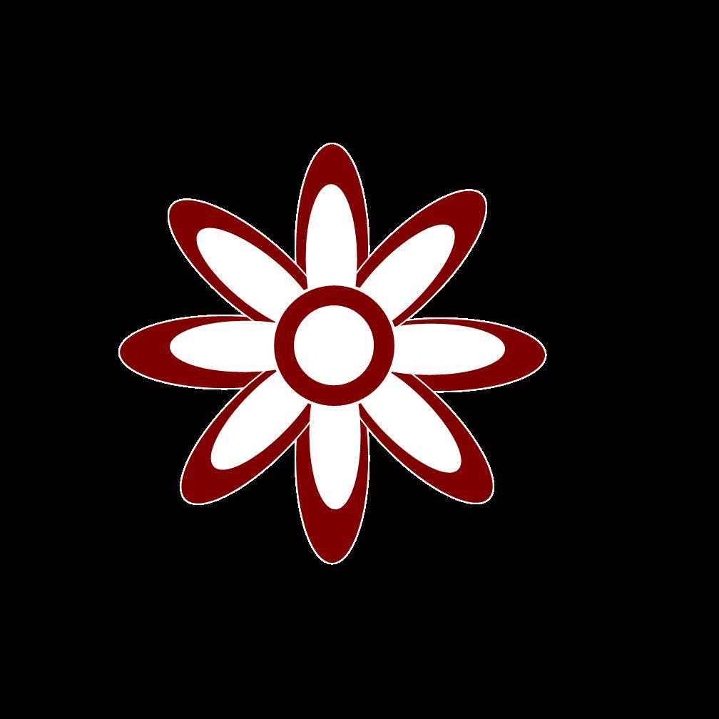 White Flower Clipart.