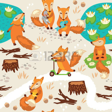 1,392 A Little Fox Stock Vector Illustration And Royalty Free A.