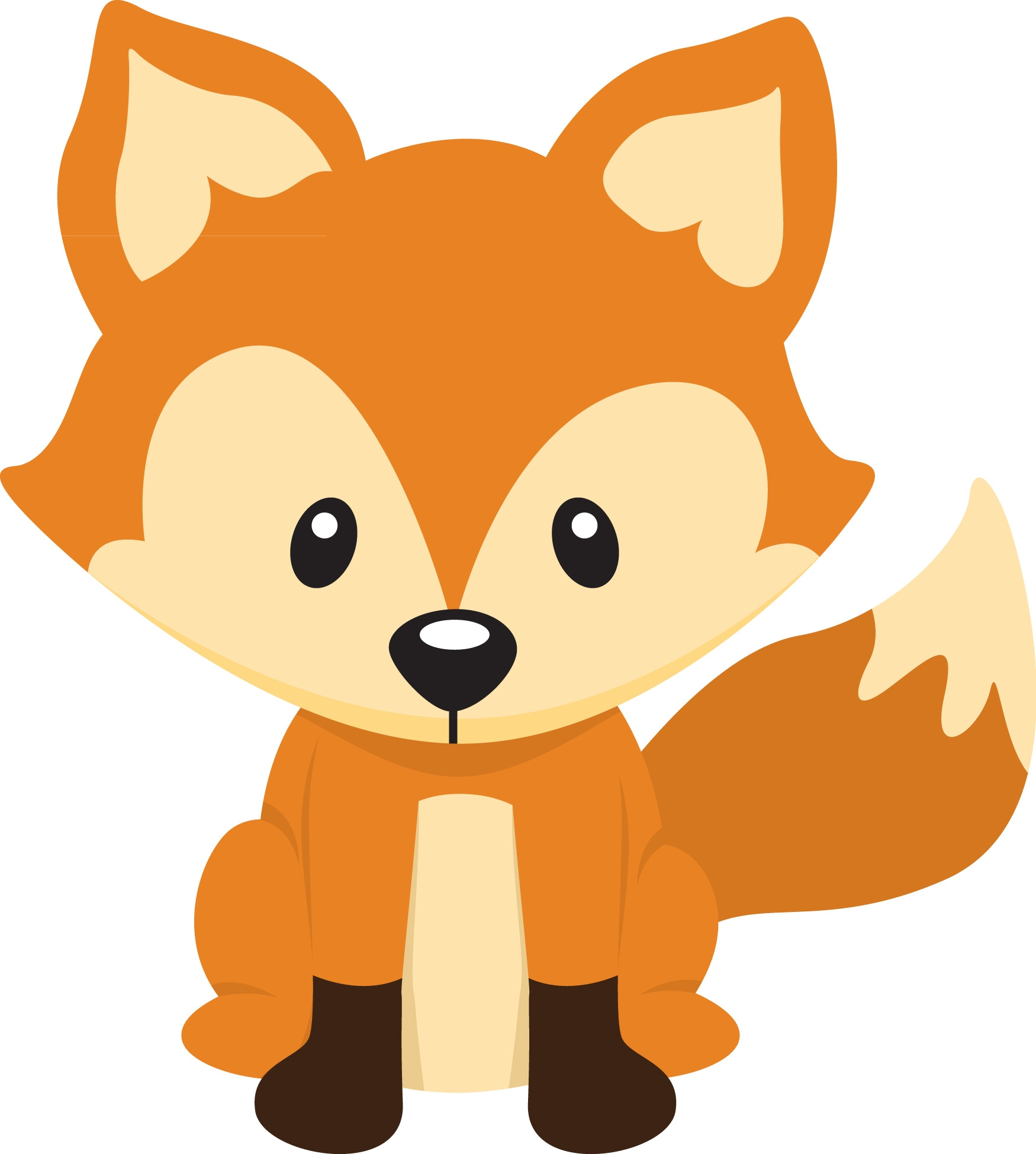 little fox clipart clipground