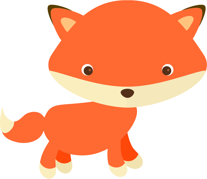 Cute Little Fox Clipart.