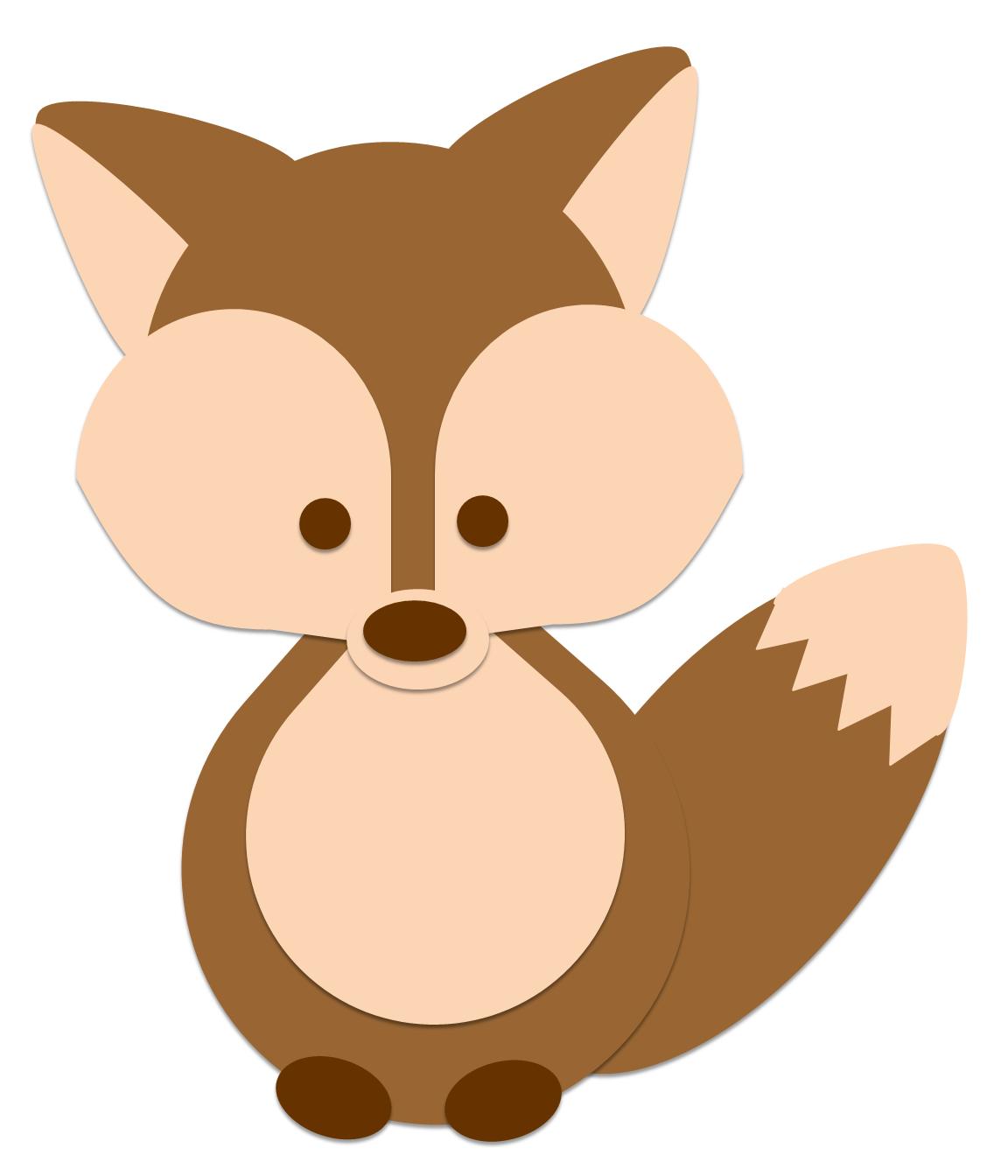 Baby Fox Clip Art.