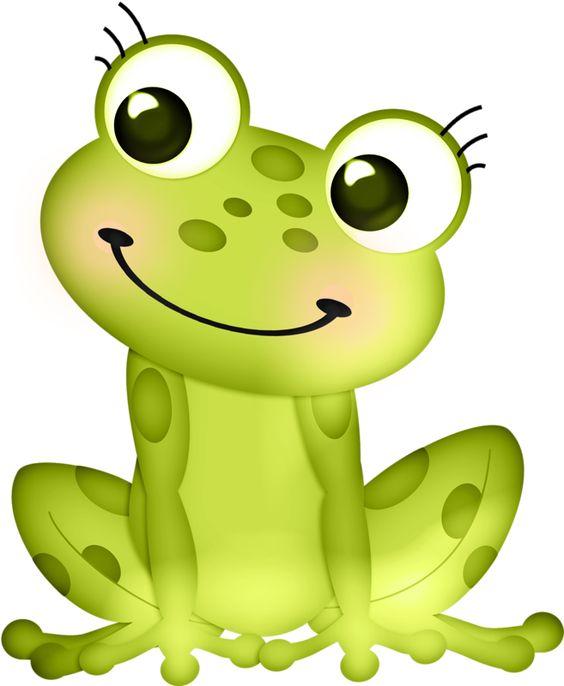 5 Frogs Cartoon.