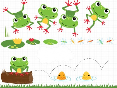 Little frog clipart.