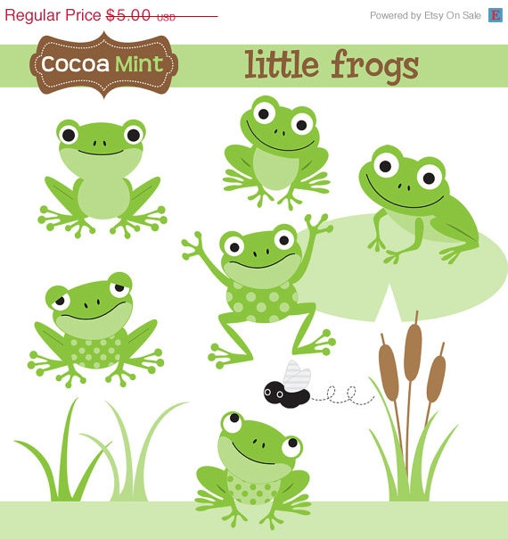 Little Frogs Clip Art.