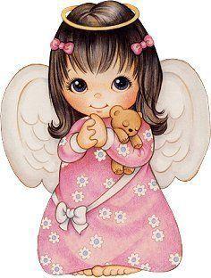 Little Girl Angel Clipart.