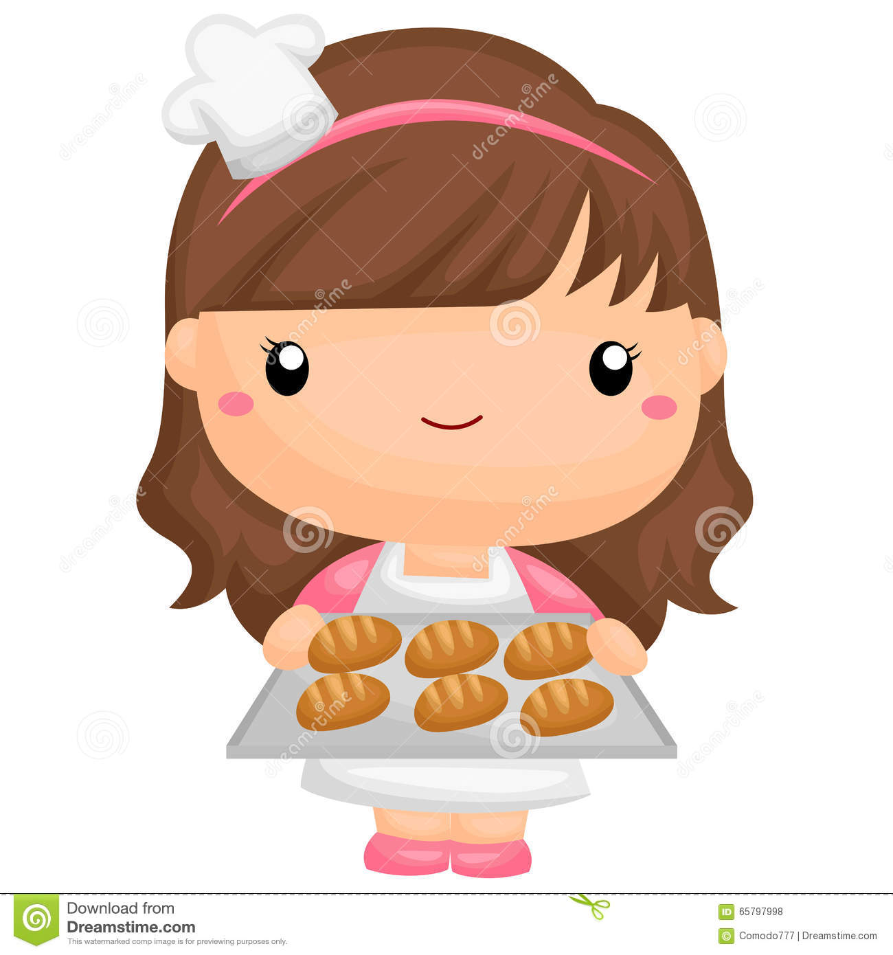Girl Baker Clipart.