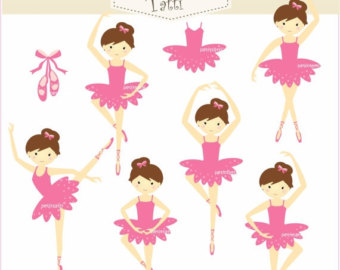 Items similar to Ballerina Clip Art, Ballet Clip Art, Cute Little.
