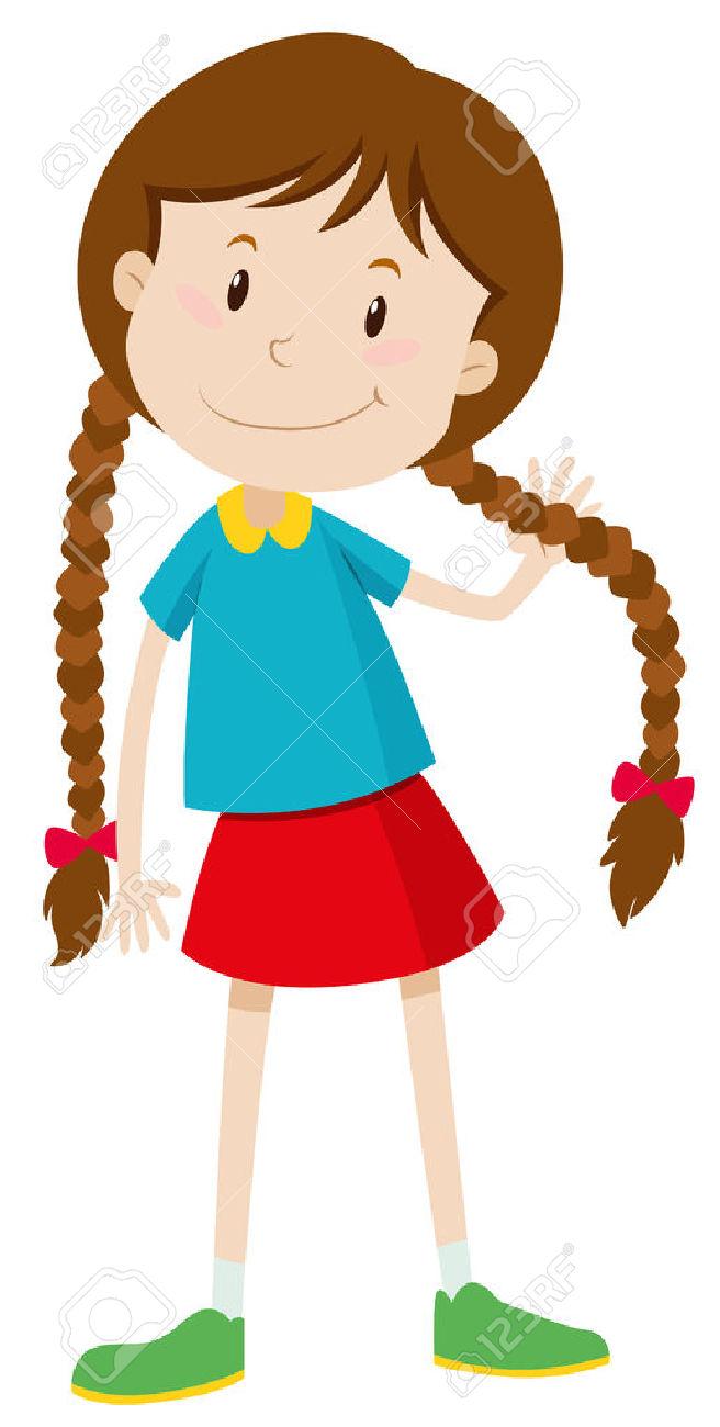 Cute Little Girl Clipart.