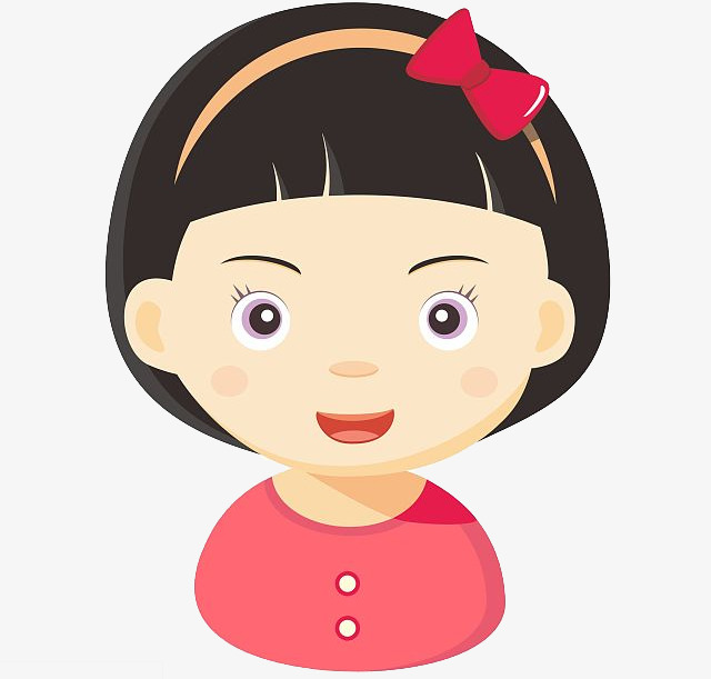 Cartoon Little Girl, Cartoon Clipart, An #59461.