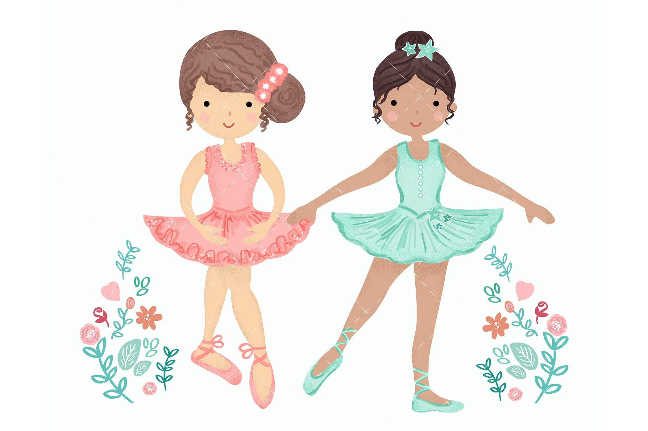 Ballerina Ballet Dancers Clipart by EasyPrint PD on.