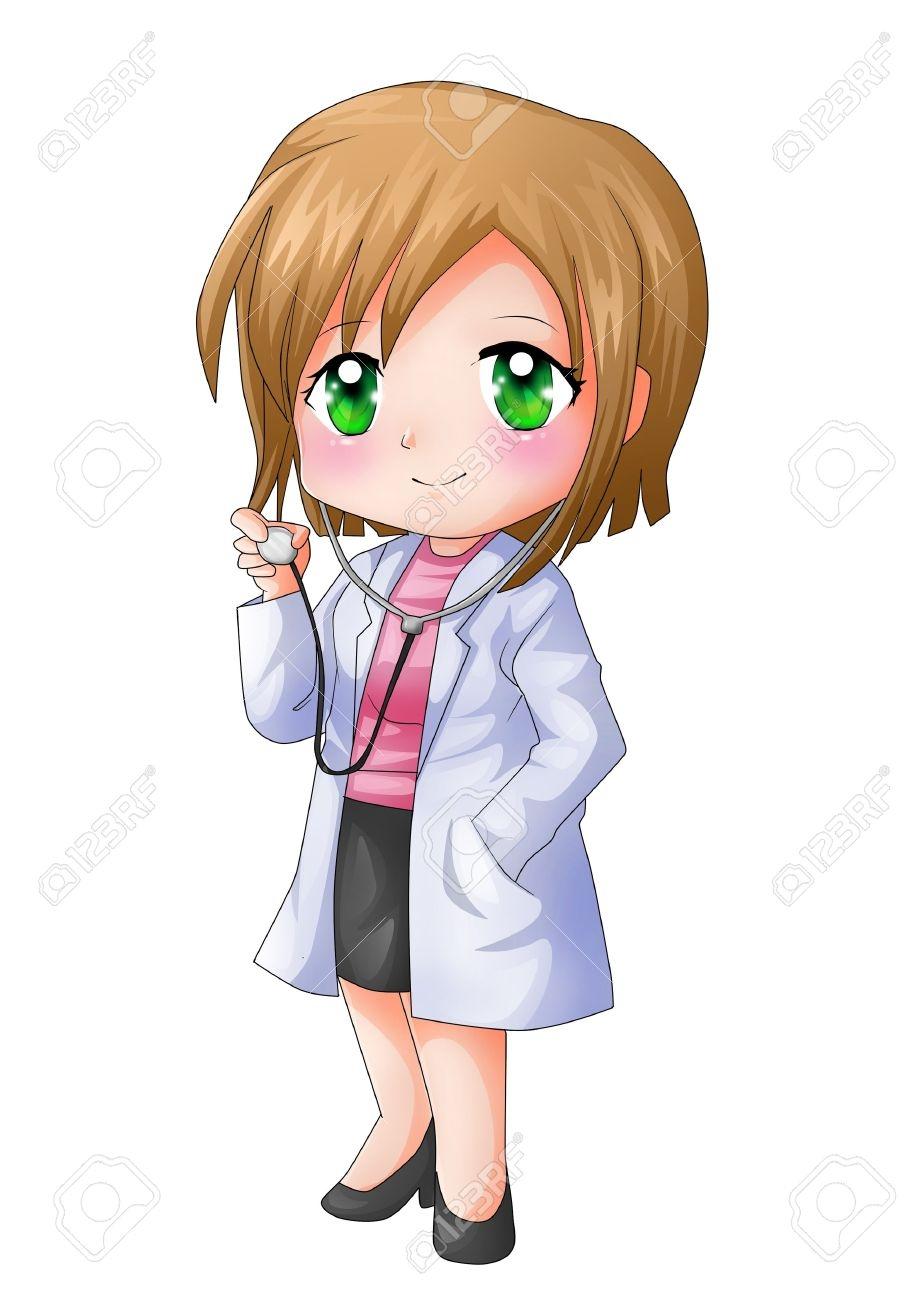 Little Girl Doctor Clipart.