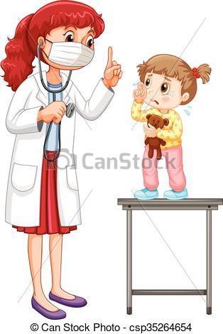Little girl doctor Vector Clip Art Royalty Free. 230 Little girl.