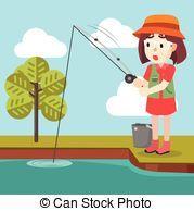 Little girl fishing clipart » Clipart Portal.