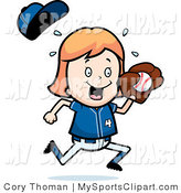 Royalty Free Stock Sports Designs of Little Girls.