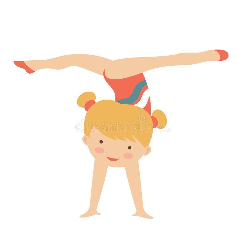 Little Girl Gymnastics Clipart.