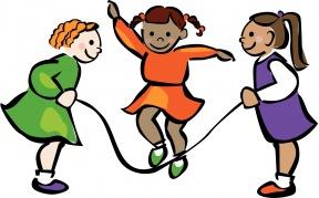 Little Girl Jump Rope Clipart.