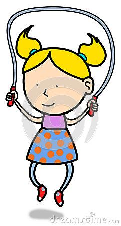 Kids Sharing Clipart Black And White little girl jump rope ...