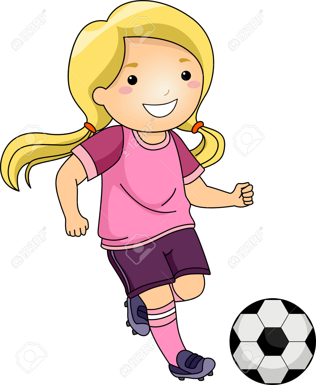 Showing post & media for Little soccer girl cartoon.