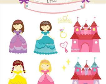 Fairy tale Princess, Princess Digital Clipart, Little Princess.