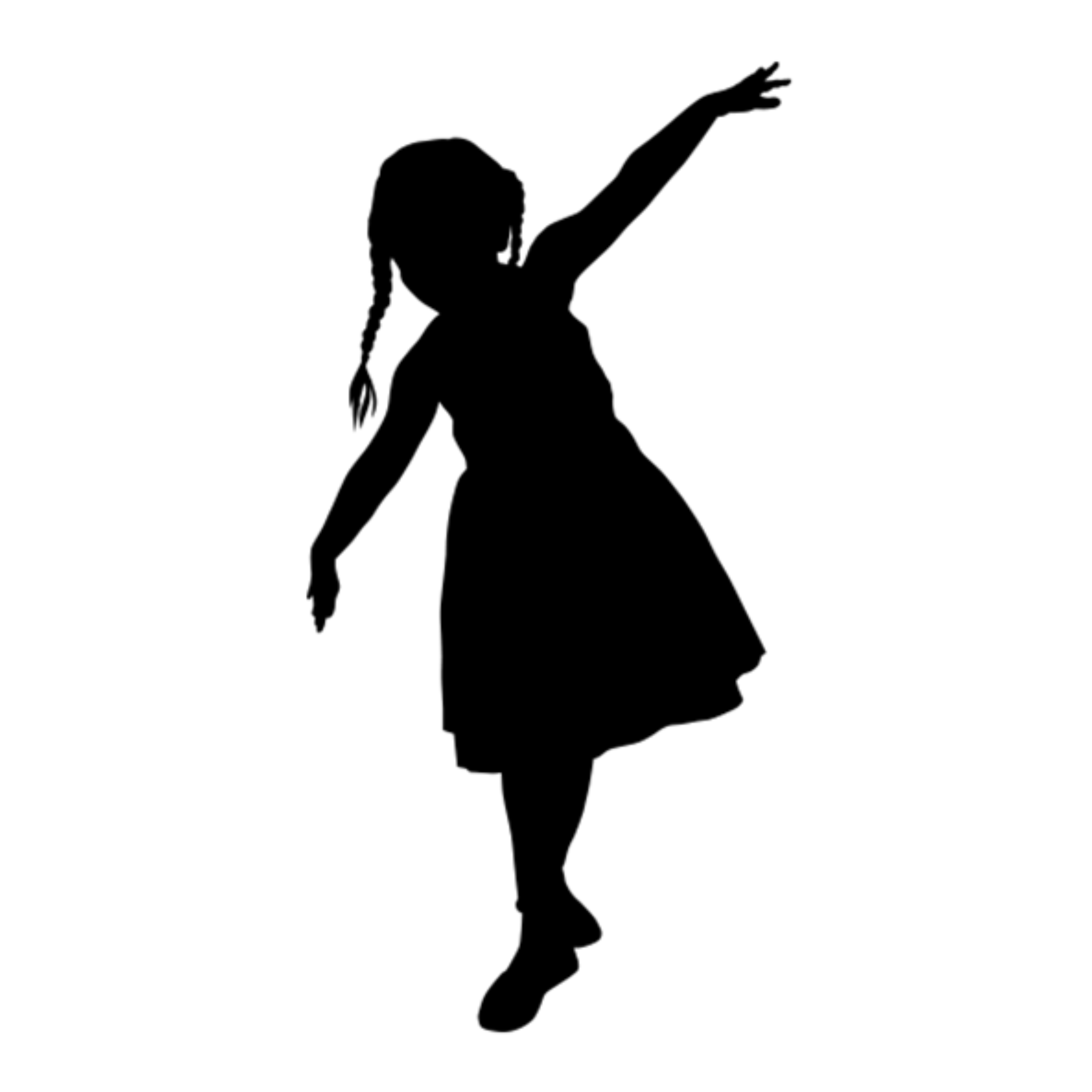 Silhouette Child Drawing Vector graphics Image.