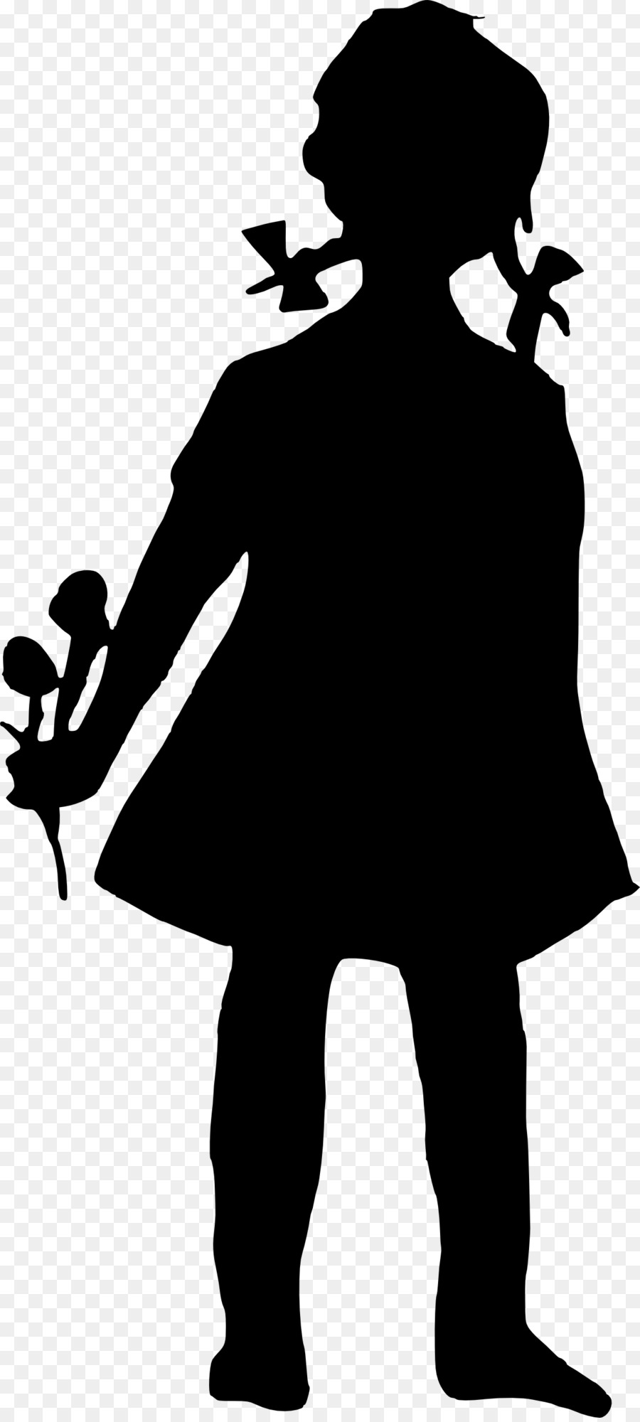 Free Little Girl Silhouette Clip Art, Download Free Clip Art.