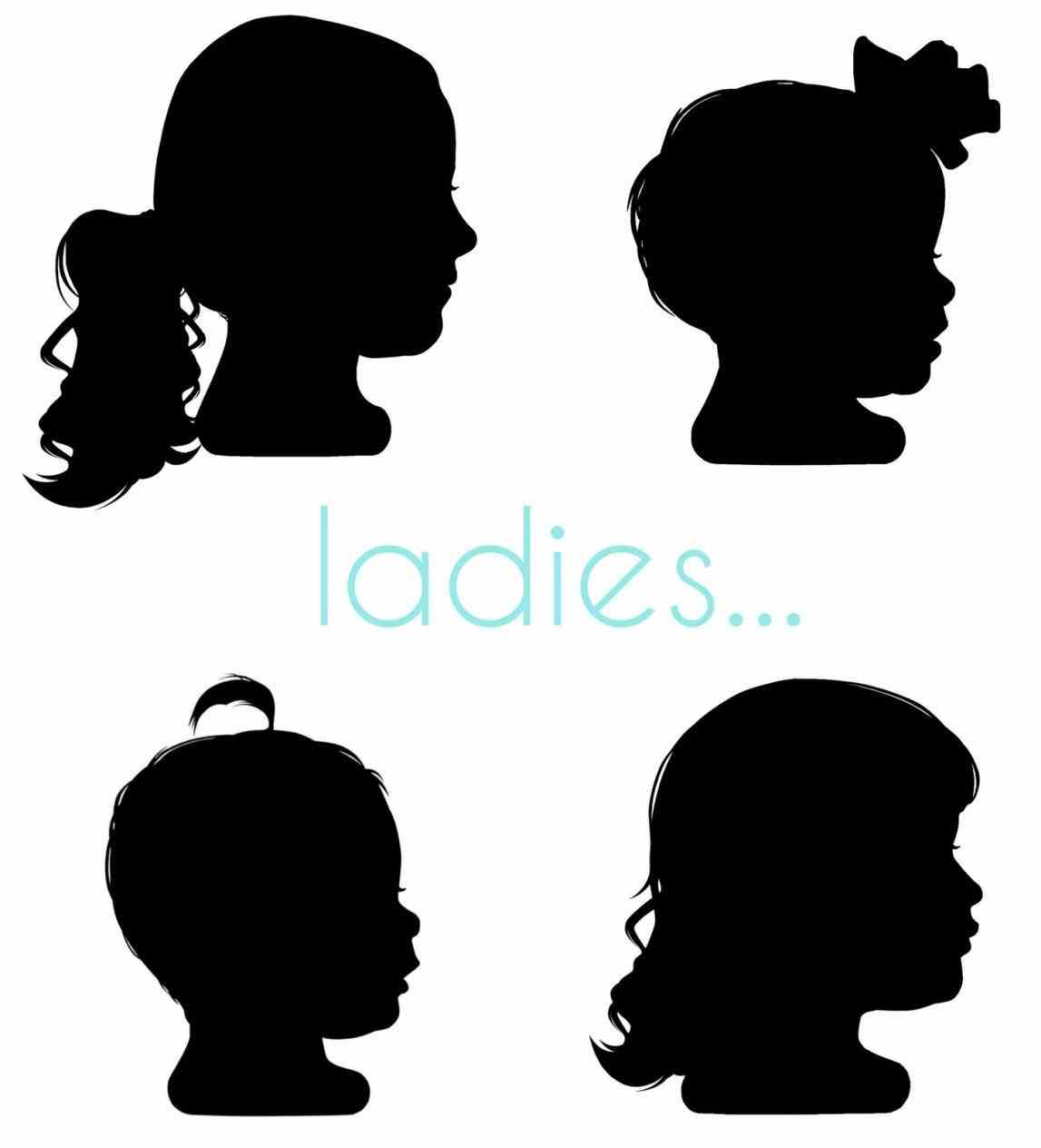little girl head silhouette