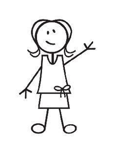 Girl stick figure clipart.