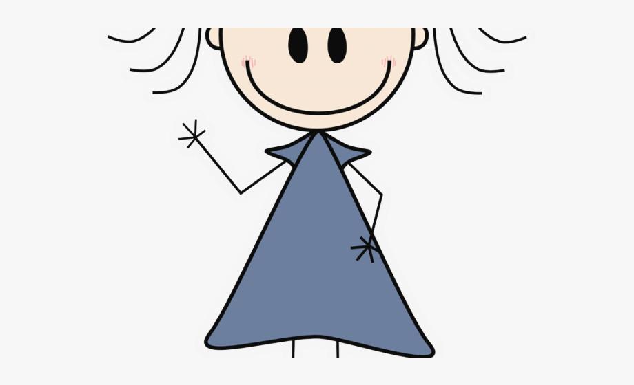 Little Girl Clipart Stick Figure.