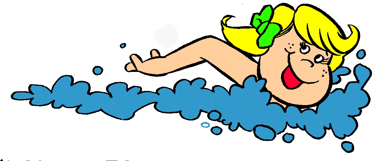 Girl Swimming Clipart#1932871.