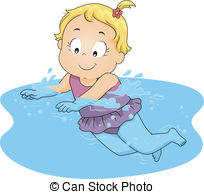 Girl Swimming Clipart.