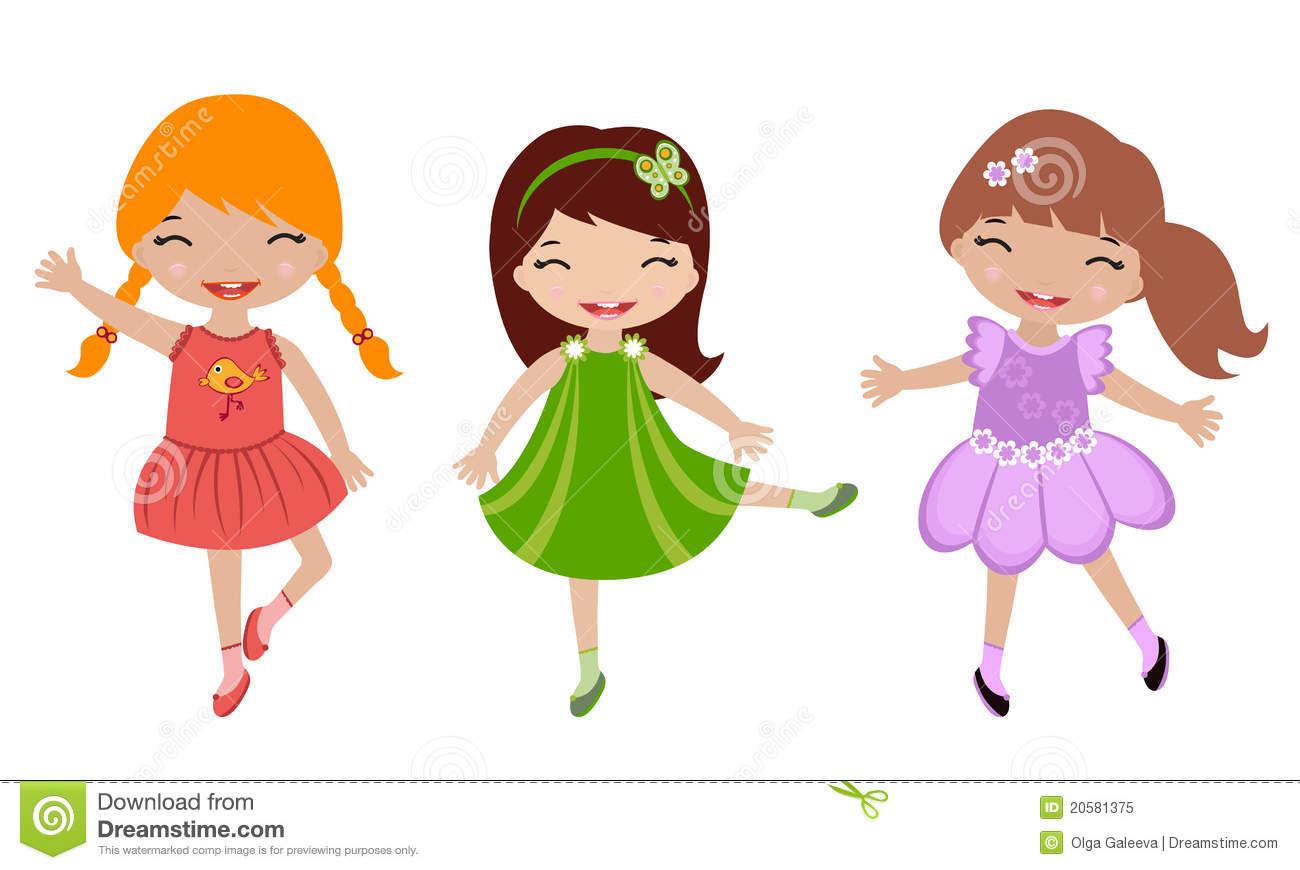 Little girls clip art.