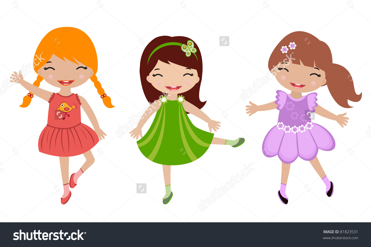 Clipart Little Girl Dancing.