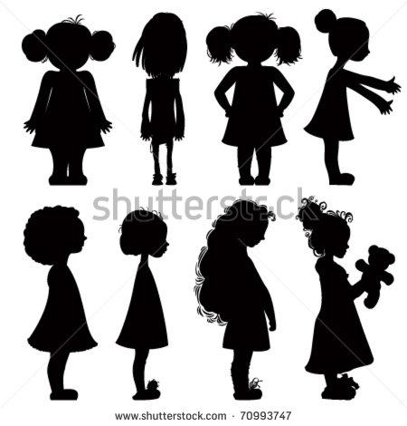 Силуэт девочки картинка