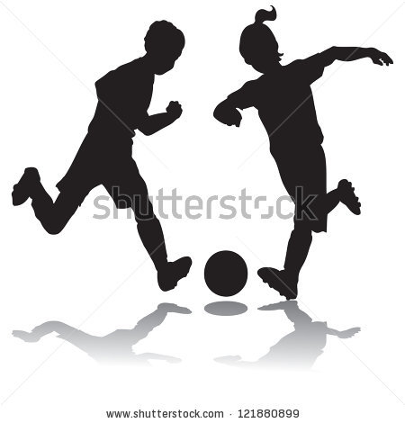Vector girl soccer silhouette free vector download (7,830 Free.