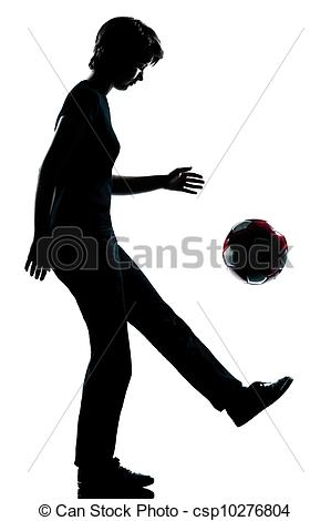 Stock Photography of one young teenager girl silhouette juggling.