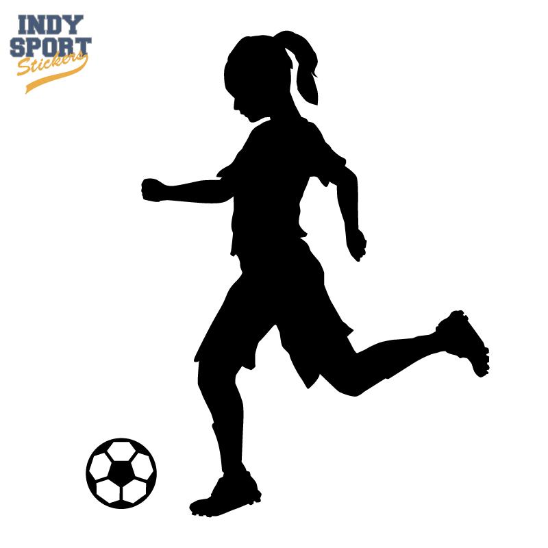 Girl Soccer Silhouette Vector little girls soccer cl...