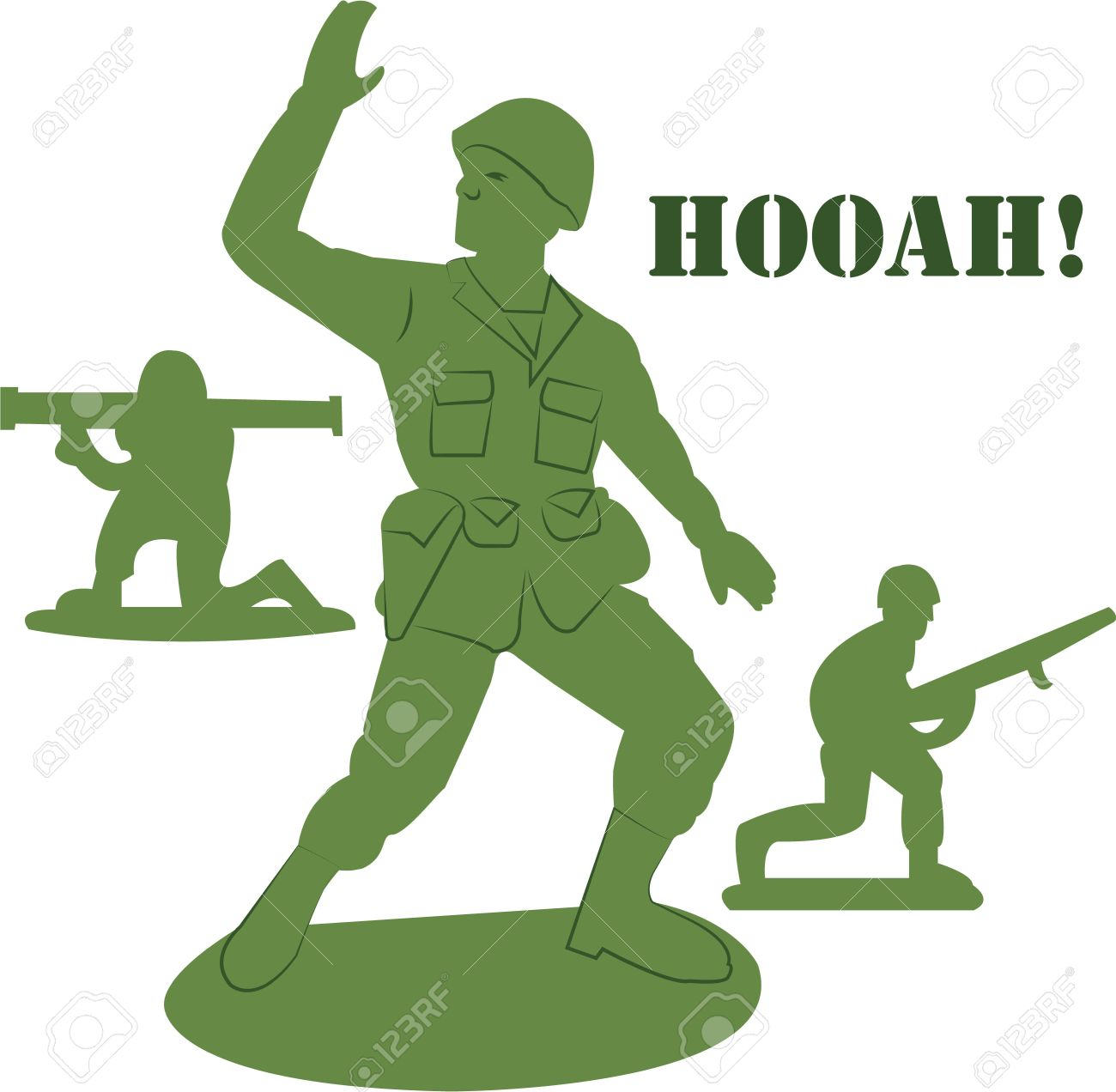 Little green army man clipart.