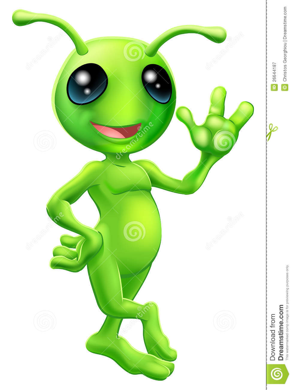 Little green men clipart.